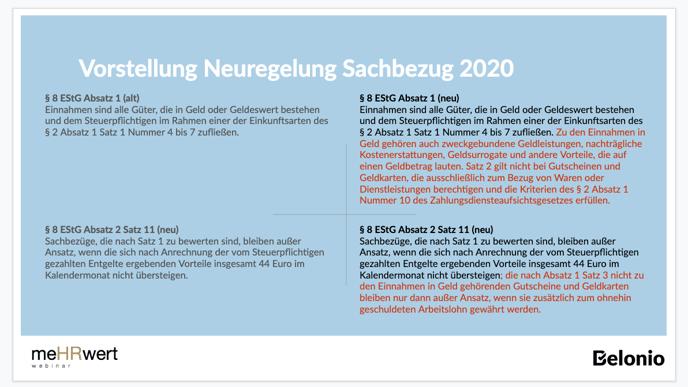 Vorstellung Neuregelung Sachbezug 2020